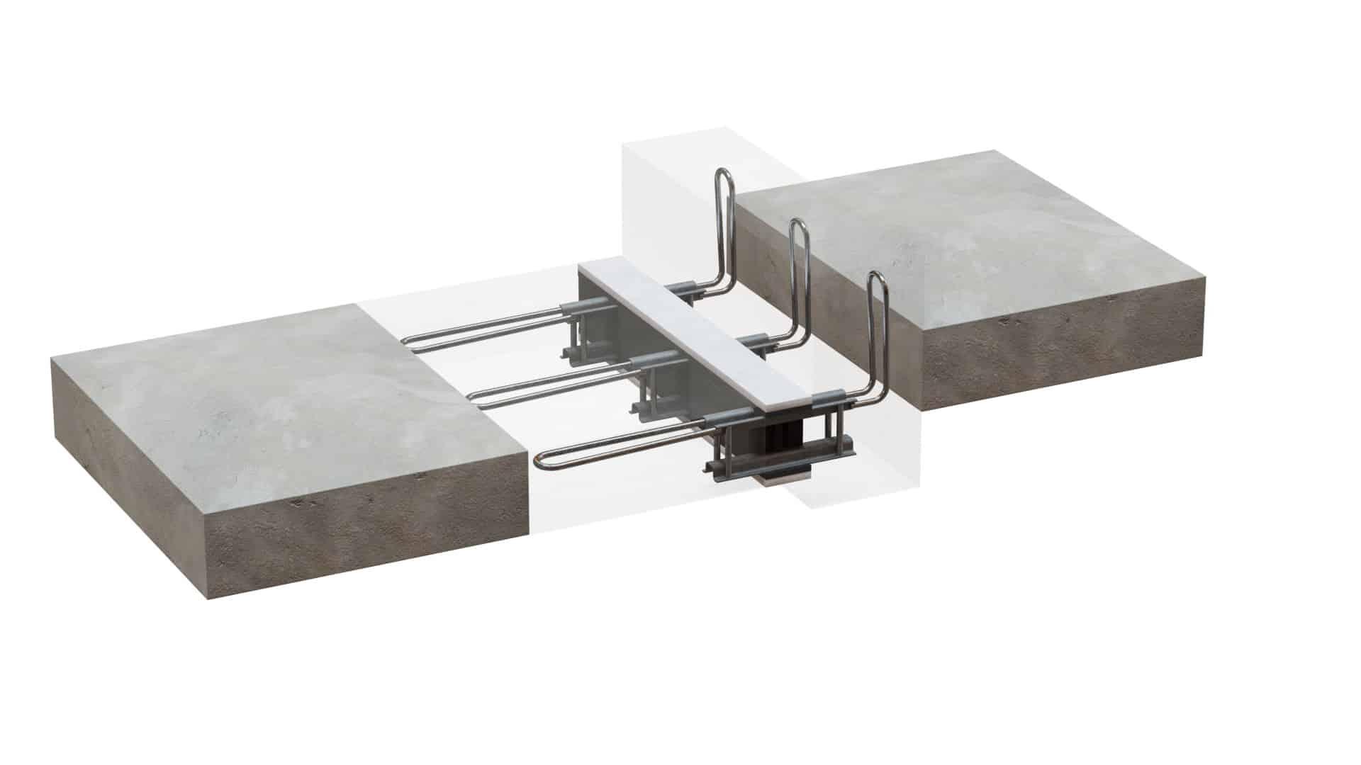 Belka żelbetowa znajduje się powyżej poziomu balkonu; minimalne wymiary belki: szerokość – 180 mm, wysokość – 360 mm.